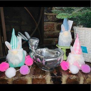 Pewter Bunny Rabbit Dish
